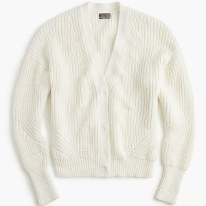 J. Crew Point Sur Ribbed Cardigan Sweater.
